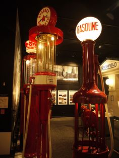 Vintage gas pumps, Los Angeles Car Museum Oct 2011