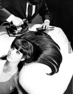 Before Hair Straighteners; I actually remember doing this, or have my sister or mom do this, for me