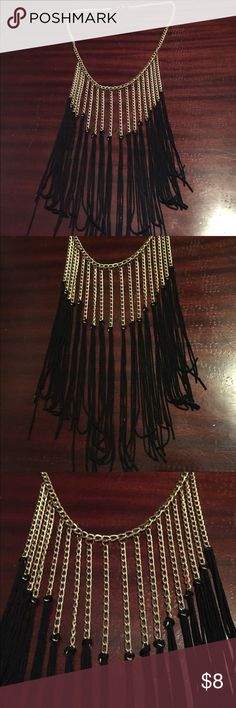 Long Gold Tassel Necklace Long Gold Tassel Necklace Jewelry Necklaces