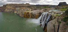 Shonshone Falls 4 - Stitched panorama from 8 original photos taken at Shoshone Falls on the Snake River in Idaho.