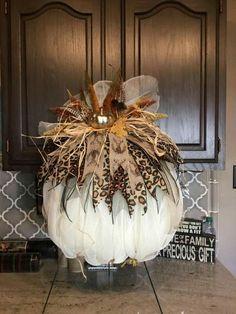 Fall Pumpkin Wreath Harvest Pumpkin WreathAutumn Pumpkin W Thanksgiving Wreaths, Holiday Wreaths, Thanksgiving Decorations, Halloween Decorations, Holiday Decor, Fall Decorations, Mesh Wreaths, Tulle Wreath, Winter Wreaths