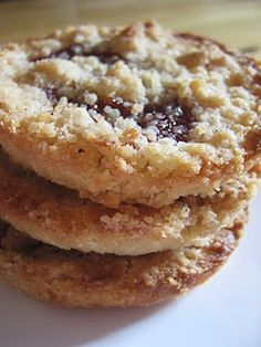 """Jammers"" Giant Streusel Jam Cookies -- A dollop of Polaner Jam is all you need - polanerallfruit.com #jam #cookie #recipe"