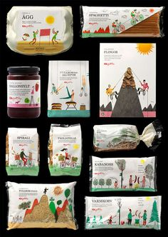 ICA Gott Liv Packaging Illustrates What Makes a Healthy Lifestyle trendhunter.com