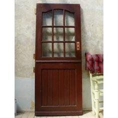 イギリス アンティーク ガラス入り木製ドア 扉 ディスプレイ 建具 5694