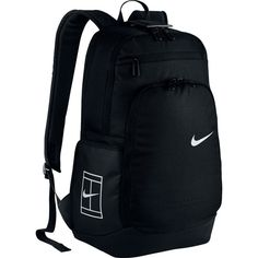 Tennis Court Tech 2.0 Backpack Black ($80) ❤ liked on Polyvore featuring bags, backpacks, water resistant backpack, strap bag, pocket bag, strap backpack and rucksack bags
