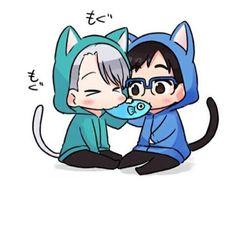 Little chibi cats *nom, nom*