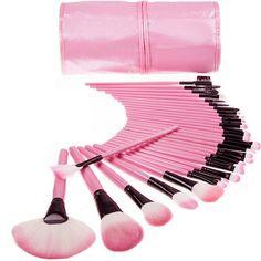 promo 32pcs professional makeup brush foundation eye liner eye shadow eyebrow eyelash eyebrow lipsticks #eye #brushes