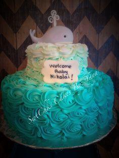 Baby shower cake Fondant whale