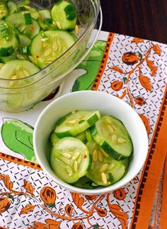 I lived in Korea for 2 years and loved the spicy kimchi cucumbers. let's try these!