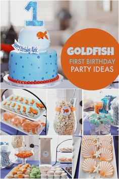 Boy's Goldfish First Birthday Party Ideas
