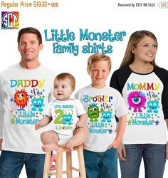 Little Monster birthday shirt/ monster shirt/ birthday boy shirt/ first birthday monster shirt/personalized little monster shirt/SCT19 **For this listing we carry 3 types of shirts, price may vary depending on the kind of shirt you select from the drop down menu** SS: Means white