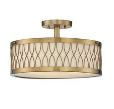 Savoy House 6-112-3-322 Spinnaker 3 Light Semi-Flush Mount In Warm Brass With Frosted Glass And Pale Cream Shade is made by the brand Savoy House and is a member of the Spinnaker collection. It has a part number of 6-112-3-322.