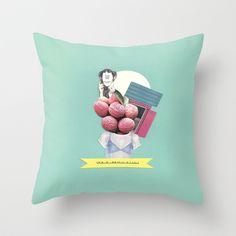 Lichia Throw Pillow by Collagevallente - $20.00