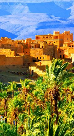 Amazing View of Moroccan Kasbah, Atlas Mountains