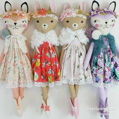 "343 Likes, 16 Comments - Jo Molony (@deerdarlingdolls) on Instagram: ""These four were so fun to make! #clothdoll #clothdollartist #dollmaker #handmadedoll #fabricdoll…"""