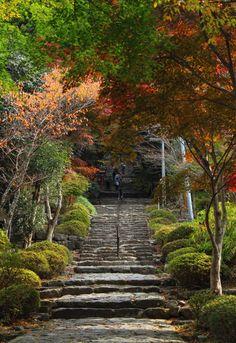 英彦山神宮への石階段 Fukuoka, Sidewalk, Japan, Garden, Artwork, Garten, Work Of Art, Auguste Rodin Artwork, Side Walkway