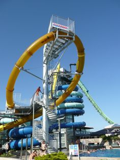 Go to one of these top waterslide locations which are sure to please the kid in you.     #2. The aqualoop water slide; now in 20 locations worldwide!    http://entertainmentdesigner.com/news/theme-park-design-news/5-of-the-worlds-craziest-water-slides/#