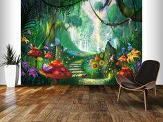 Hidden Treasure wall mural room setting