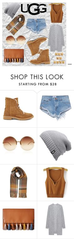 """""""The New Classics With UGG: Contest Entry"""" by maria-charp ❤ liked on Polyvore featuring UGG, One Teaspoon, Linda Farrow, The North Face, Miss Selfridge, Rebecca Minkoff, Acne Studios and ugg"""