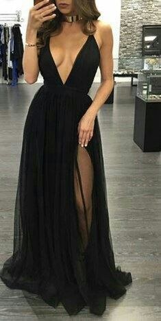 Black Prom Dresses,Prom Prom line Prom Dresses,Evening Gowns,Party Dress,Slit Prom Gown For Teens high heels dress shoes Prom Outfits, Backless Prom Dresses, A Line Prom Dresses, Sexy Dresses, Dress Outfits, Dress Shoes, Formal Dresses, Long Dresses, Prom Dresses With Slits