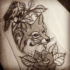 traditional fox tattoo - Google Search