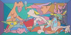 Interpretações modernas de Guernica de Picasso por Ron Inglês | A fé é Torment | Arte e blogue do design