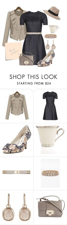 """Weekend Brunch"" by acush ❤ liked on Polyvore featuring dVb Victoria Beckham, Bettye Muller, Lenox, Post-It, Anne Klein, Monica Vinader, Jimmy Choo and Express"