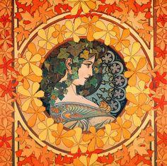 "Alphonse Mucha (1897) ~ Miks' Pics ""Alphonse Mucha"" board @ http://www.pinterest.com/msmgish/alphonse-mucha/"