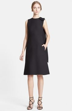 Valentino Bow Detail Wool Blend Crepe Dress available at #Nordstrom
