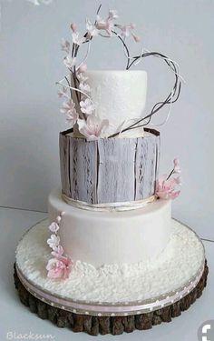 Wedding cakes without fondant wedding cake by Blacksun - cake . Wedding Cake Rustic, Beautiful Wedding Cakes, Gorgeous Cakes, Pretty Cakes, Cake Wedding, Elegant Wedding, Shabby Chic Wedding Cakes, Vintage Wedding Cake Toppers, Floral Wedding
