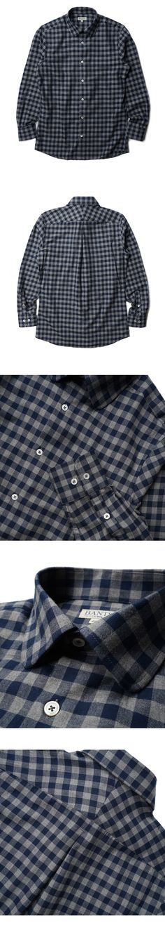 매료 - Y SHIRTS (Flannel Round Collar Shirts - Gray)
