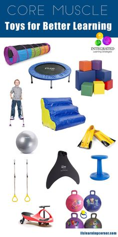 Core Muscle: How to Build Your Child's Core Muscle Toys | http://ilslearningcorner.com