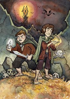 Frodo and Sam -- This remimds me of the Goonies for some reason.