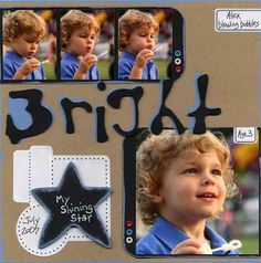 photo strip... blowing bubbles   4 photo scrap page layout