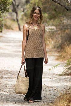 Women Linen Top, Print Top, Linen Tank Top, Linen Clothing, Yoga Hippie Top, Linen Boho Top, Beach Top, Tribal Clothing, Earthy Clothing #linentop #tanktop #tribalclothing #Etnix