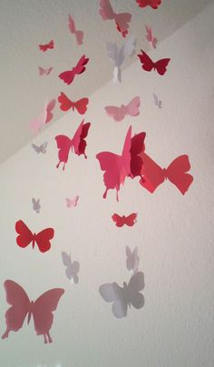 New Schmetterling Mobil Rosa