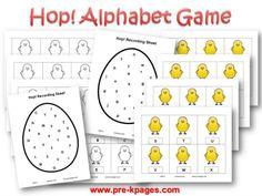 Easter Alphabet Identification Game #preschool #kindergarten