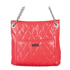 "Alex-Coral Bag  Your Price:  $80.00  Let it shine! With a little versatility and a lot of luster, this dynamic bag converts from a two-strap shoulder bag to a one-strap cross-body bag. Features diamond-patterned quilting and a discreet back phone pocket. • Faux patent leather (Ocelot is matte) • 14"" L, 13"" H, 2.5"" W • Straps adjust from 12"" drop to 22"" drop • Dust cover included • Button closure • Exterior pocket fits any Grace Adele Clutch #purse #fashion #patent #coral #summer"