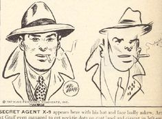 """Famous cartoonists draw with their eyes closed 