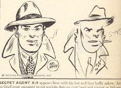 Dans son édition du 3 février 1947, le magazine LIFE a demandé à des illustrateurs de bande dessinée célèbres de dessiner leurs personnages fétiches les yeux bandés. Chester Gould (Dick Tracy), Chic Young (Blondie), Milton Caniff (Steve Canyon) et les autres ont relevé le défi, gribouillant les personnages qu'ils avaient pourtant déjà dessiné des centaines de fois… Une expérience qu'il serait amusant de reproduire avec des illustrateurs plus actuels !