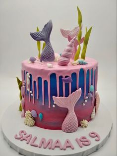 Art Birthday Cake, Mermaid Cakes, Treats, Desserts, Food, Sweet Like Candy, Tailgate Desserts, Goodies, Deserts