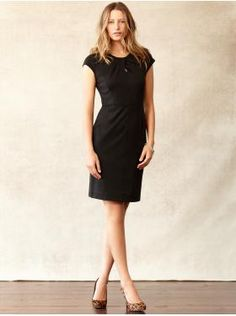 "Banana Republic ""outfits we love""  shoes: $120  bangle: $39.50  dress: $130"