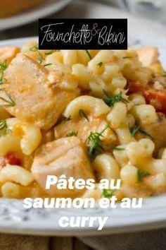 Découvrez notre recette de pâtes au saumon et au curry ! Motivation, Al Dente, Baked Salmon, Pasta With Salmon, Curry Paste, Skinny Kitchen, Healthy Recipes, Shape, Inspiration
