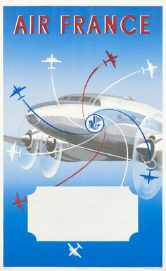 Renluc Air France (propellers) | International Poster Gallery