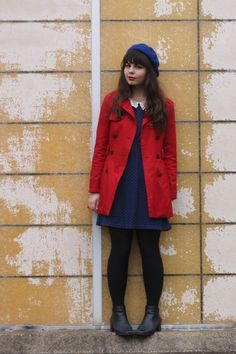 Black-thrifted-boots-navy-modcloth-dress-red-forever21-jacket