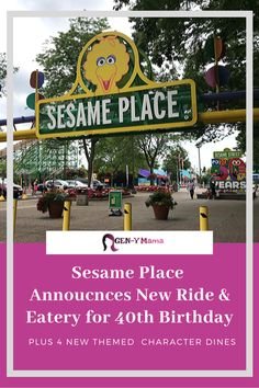 Sesame Place will celebrate their birthday all season long in The fun starts with a brand new ride and eatery! Elmo Birthday, 40th Birthday Parties, Special Birthday, Birthday Celebration, Travel With Kids, Family Travel, Giant Candles, Places To Travel, Places To Go