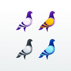 Find Pigeon Character Color Illustration Vector Template stock images in HD and millions of other royalty-free stock photos, illustrations and vectors in the Shutterstock collection. Pigeon Logo, Icon Design, Logo Design, Graphic Design, Pixel Art, Pigeon Pictures, Pigeon Bird, Lion Wallpaper, Hand Drawn Logo