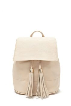 Tasseled Faux Leather Backpack #accessorize