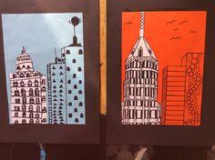 Bidt af billedkunst!: Skyskrabere i N.Y - version 2