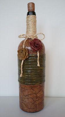 Atelie Beth Ribeiro: Garrafa decorada rústica I                                                                                                                                                      Mais